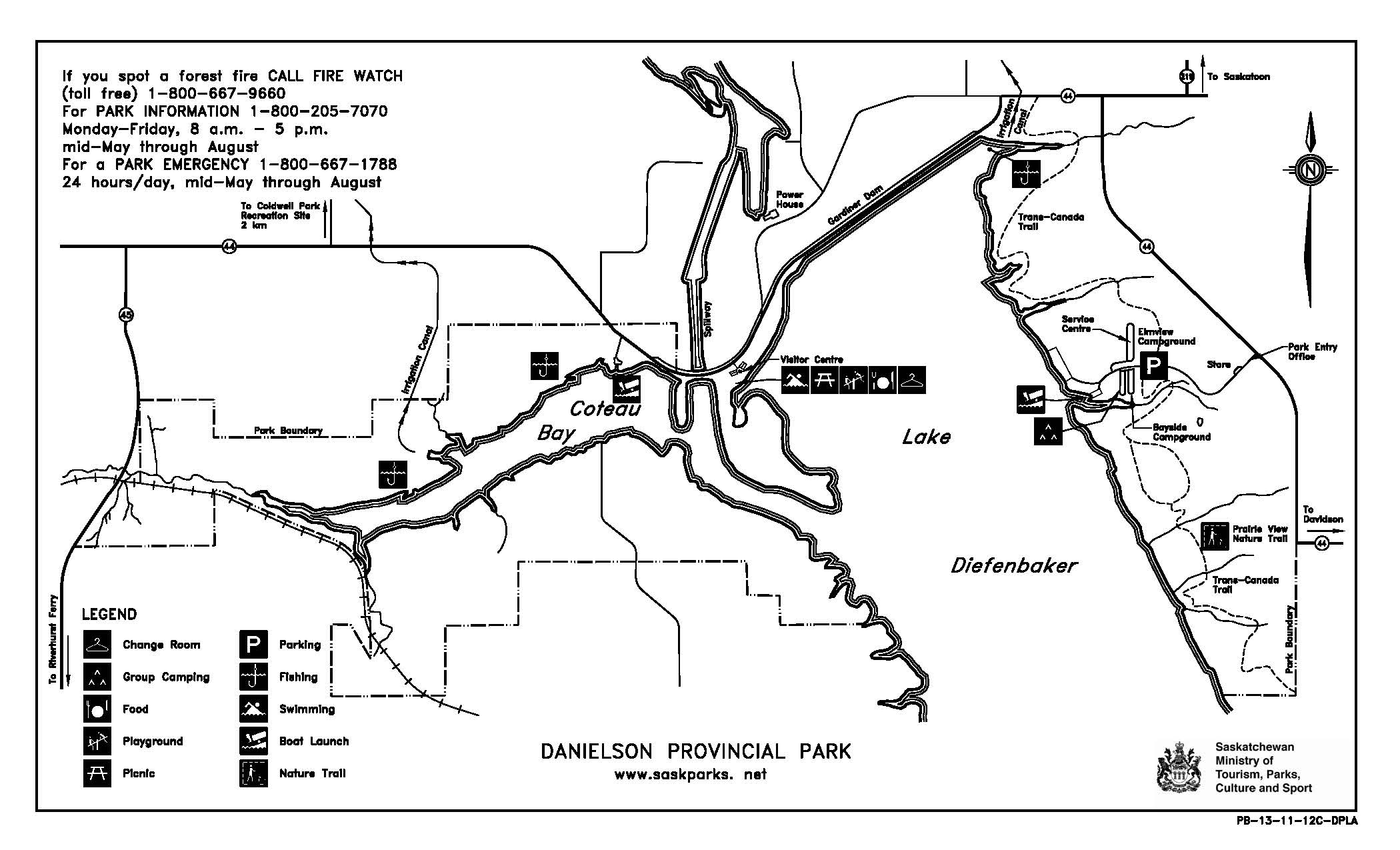 danielson park map