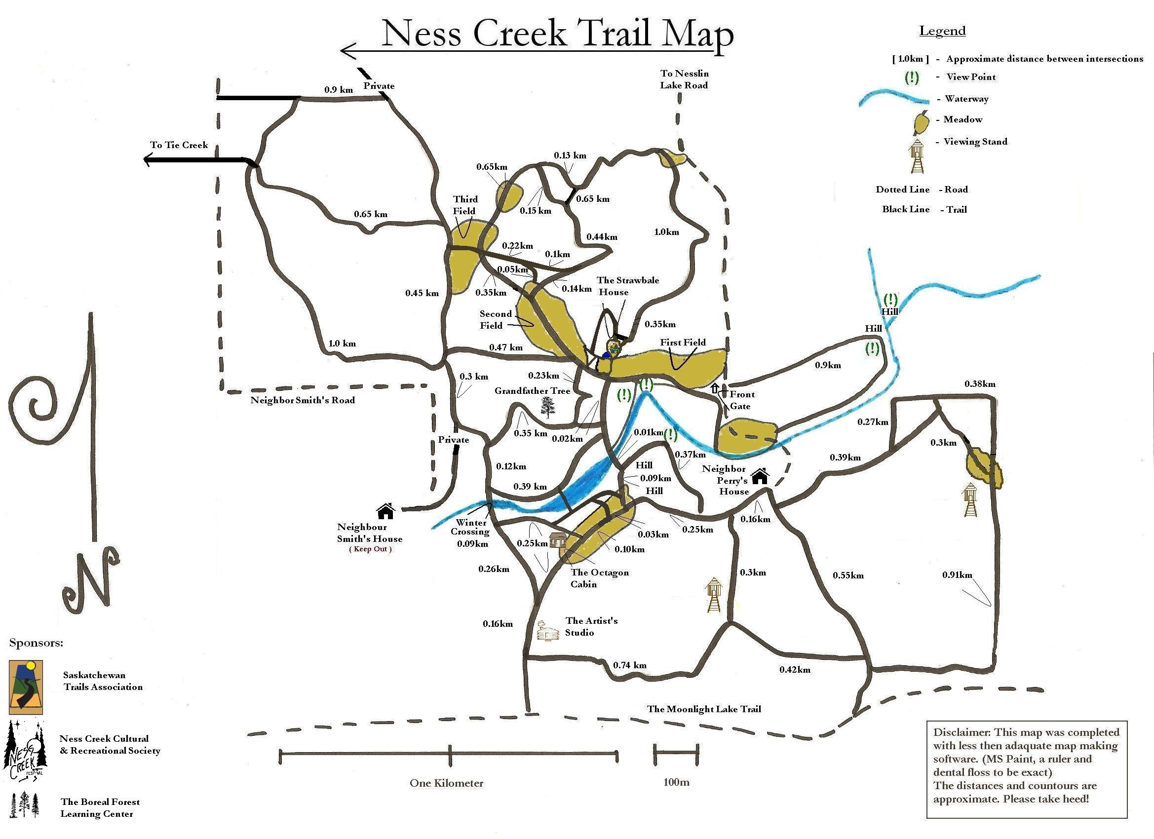 latest map Ness Creek
