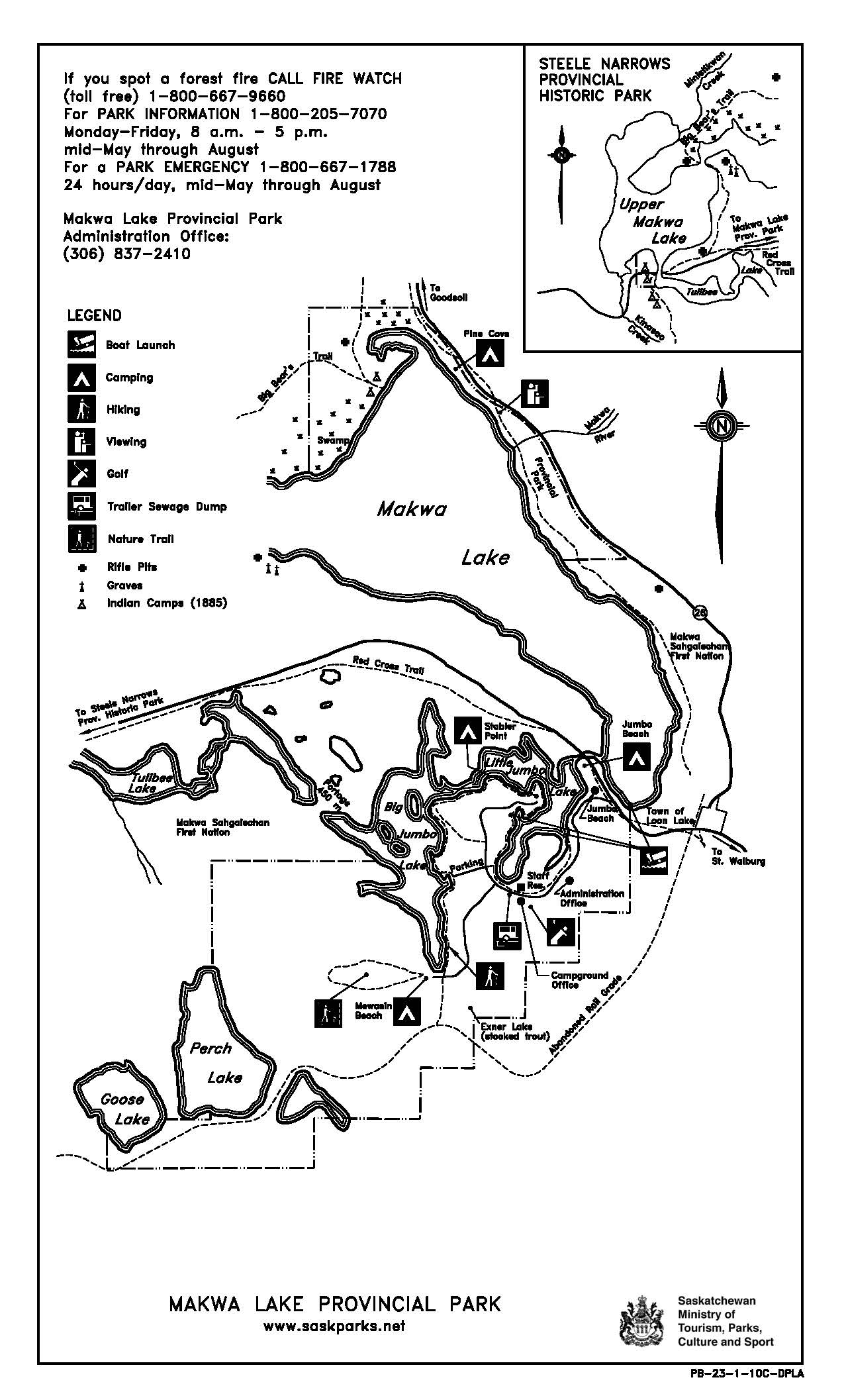 makwa lake map