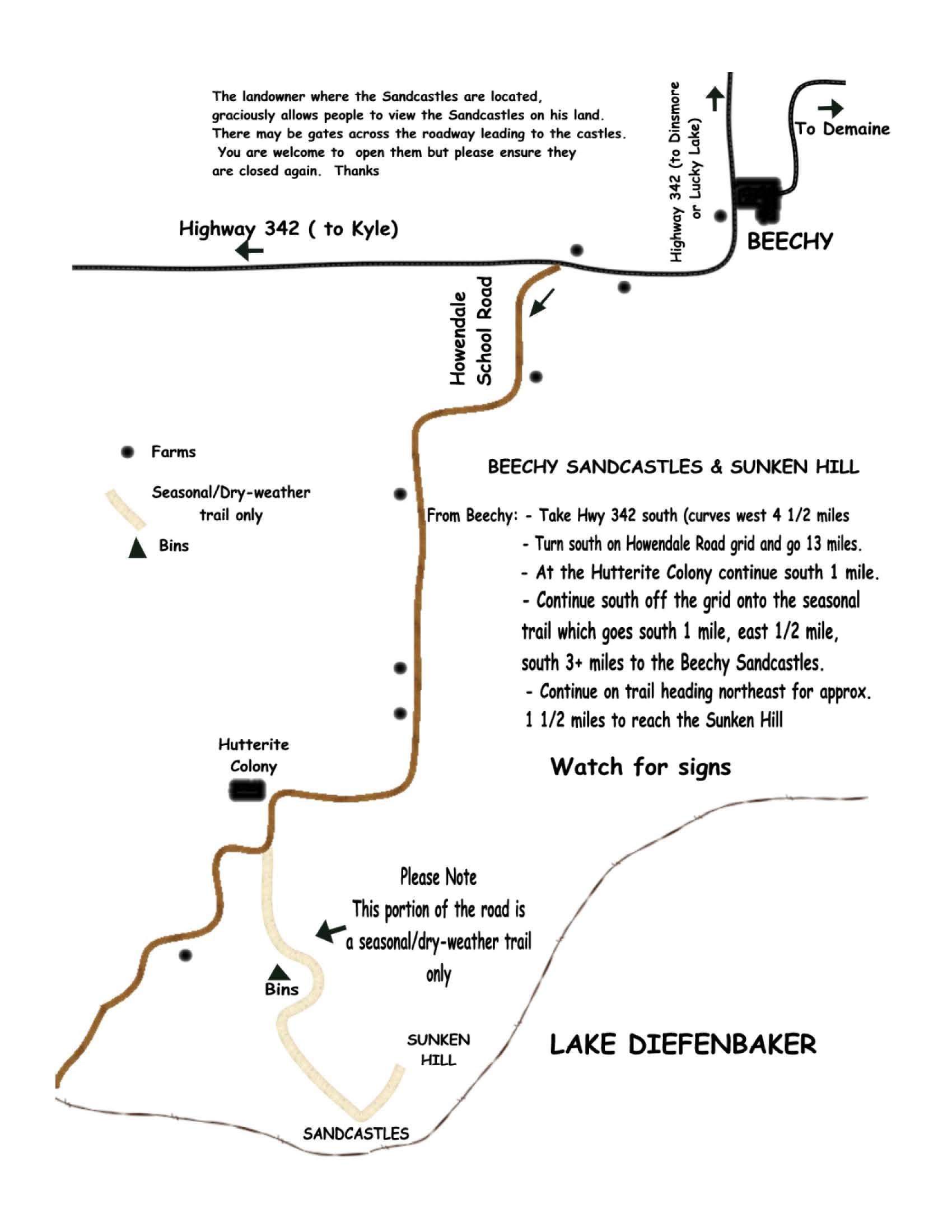 sandcastle trail map