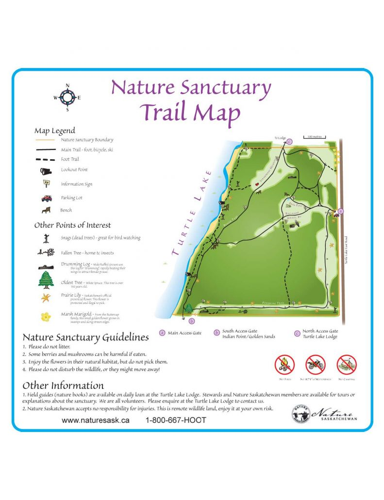 turtle lake nature sanc map