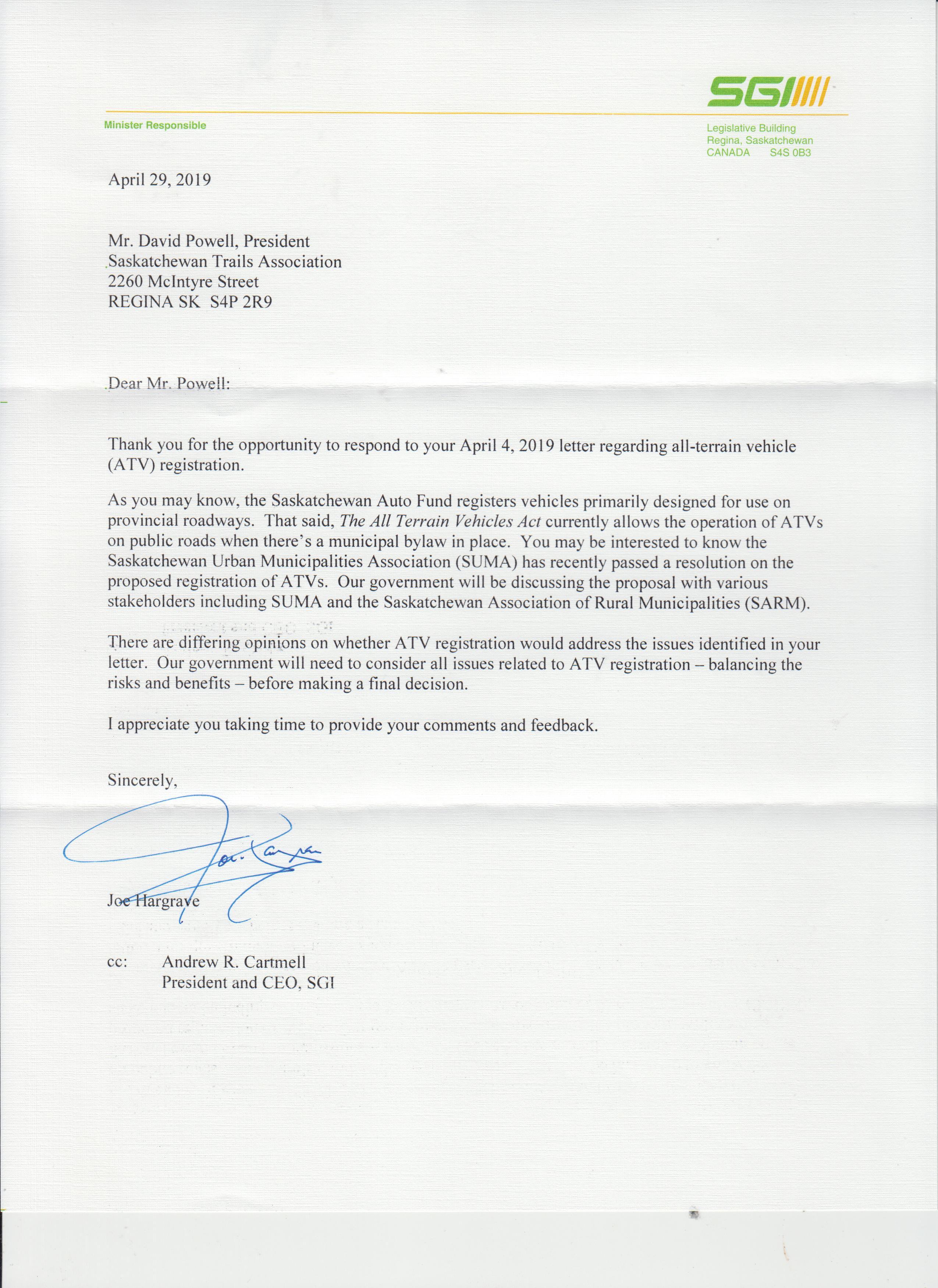 SGI Response